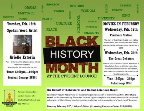 Black History Month at the Student Lounge festivities kick off Feb. 16