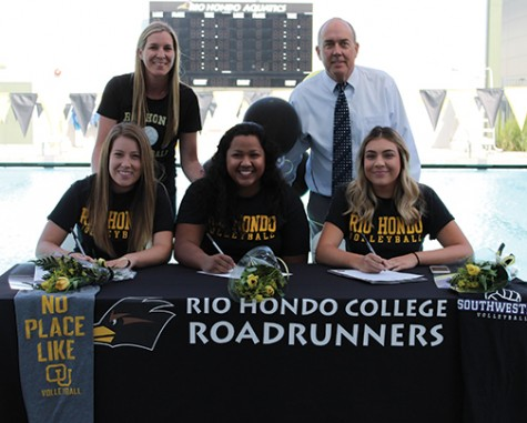 Women's Volleyball and Basketball Players Sign Letters of Intent