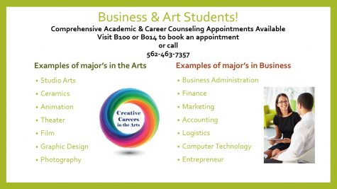Business and Art student counseling appointments available!