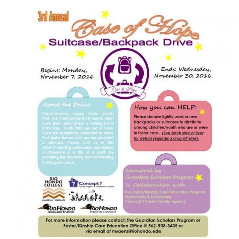 Annual 'Case of Hope' Backpack and Suitcase Drive Ends Tomorrow