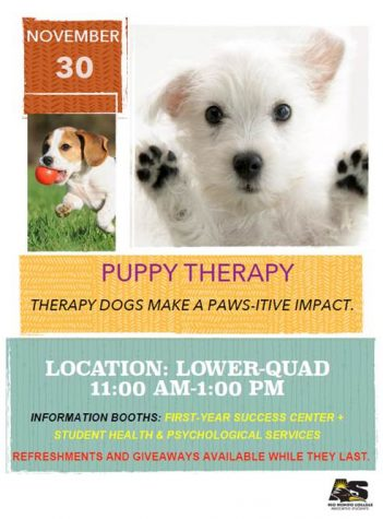 Puppy Therapy on Campus Nov. 30th