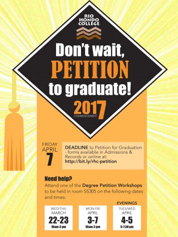 Petition to Graduate Deadline April 7th!