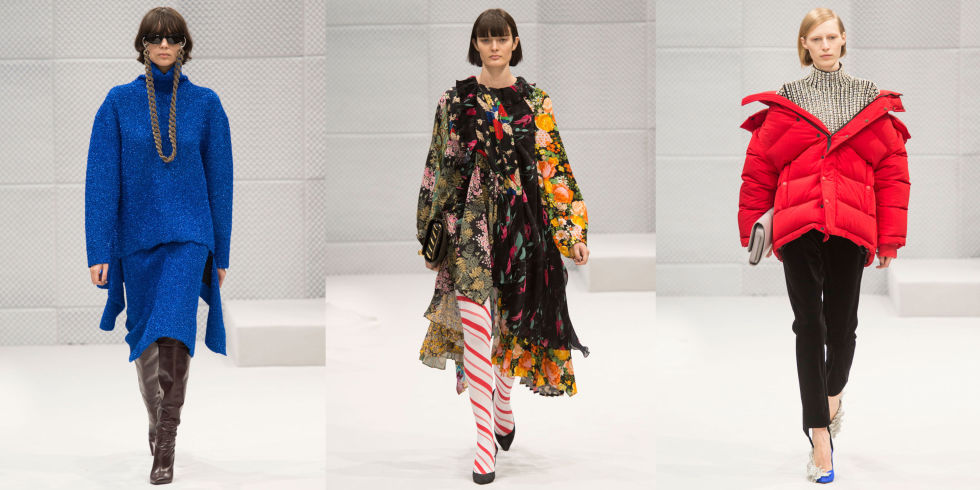 Gvasalia's debut collection at the Balenciaga runway.