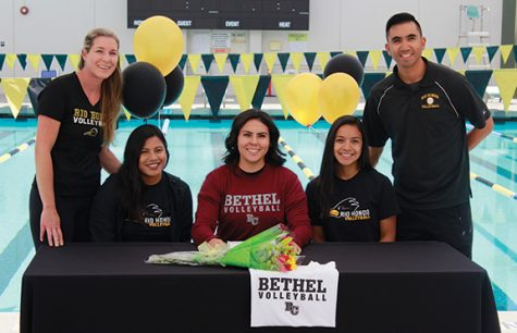 Rachel Bustillos signs National Letter of Intent to Bethel College, while Paula Alferez and Carleigh Cruz commit to Hope International University