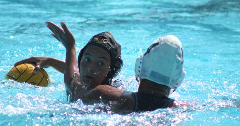 Women's water polo team sink but still swim