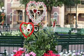 An example of the minuscule decorations throughout the park to add a romantic feel to the resort,