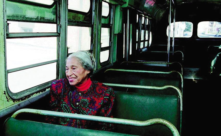 Who knew black history month el paisano for Rosa parks bus coloring page