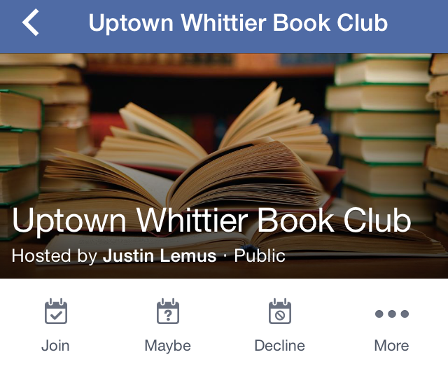 New book club in half off books store