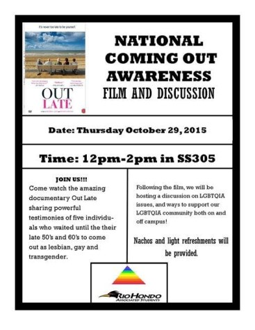 National Coming Out Awareness Film and Discussion