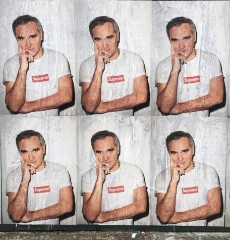 Morrisey for Supreme t-shirt campaign.  Courtesy of Hypebeast.com