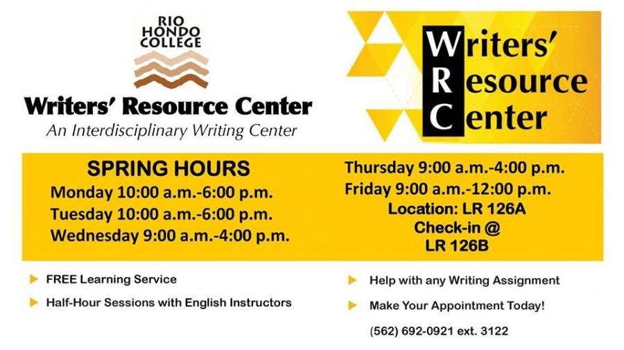Writers' Resource Center open for appointments