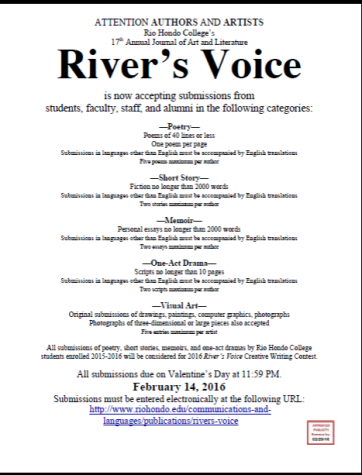 17th Annual River's Voice submission deadline approaching