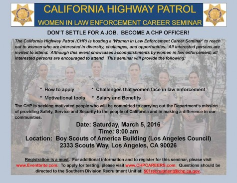 California Highway Patrol holding 'Women in Law Enforcement' seminar