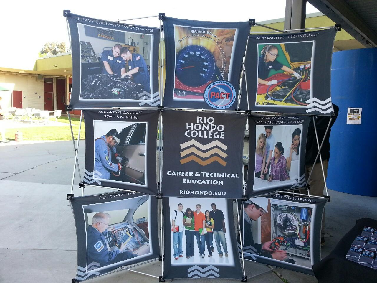 Display at CTE Open House held on Feb. 27 in front of the Applied Technology Building.