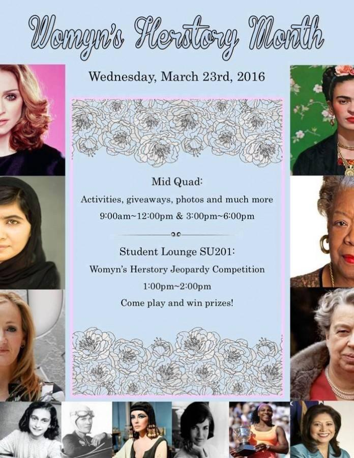 'Womyn's Herstory Month' activities to be held on campus