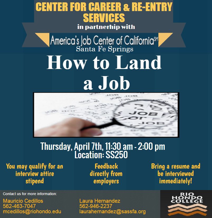 How to Land a Job workshop to be held on campus