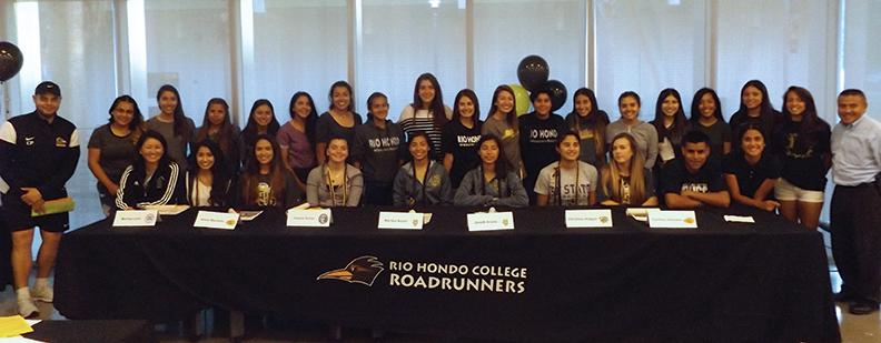 The Rio Hondo Women's Soccer team hosted a farewell to their Sophomore athletes as well as introduced their new recruits to the program on May 10.