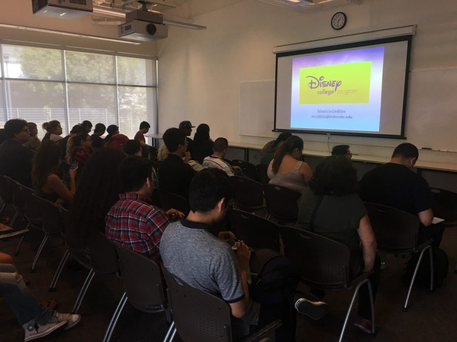 Students attended biggest Disney Internship information session hosted by Mauricio Cedillos