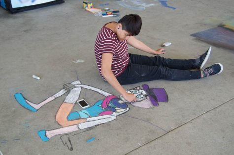 Art Guild's Chalk Walk Brightens the Floor of the L- Tower