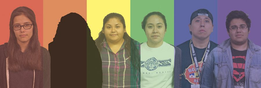 Members of the Spectrum Club stand united to support the LGBT+ community.