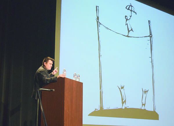 Jose Antonio Vargas spoke to Rio Hondo faculty and students about the obstacles he overcame as an undocumented person living in the United States.