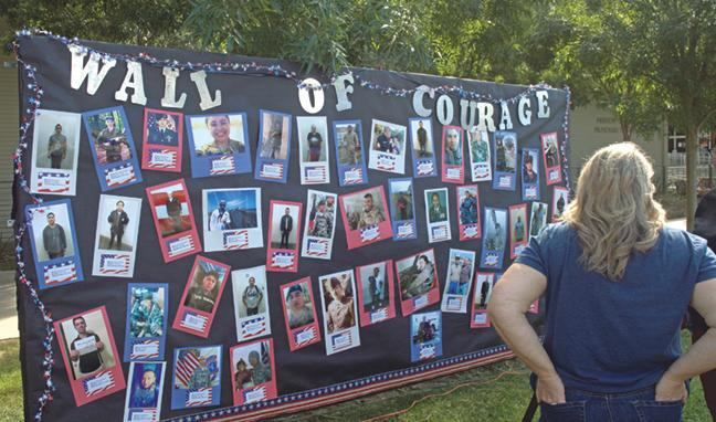 The Wall of Courage highlights those that have made the ultimate sacrifice.