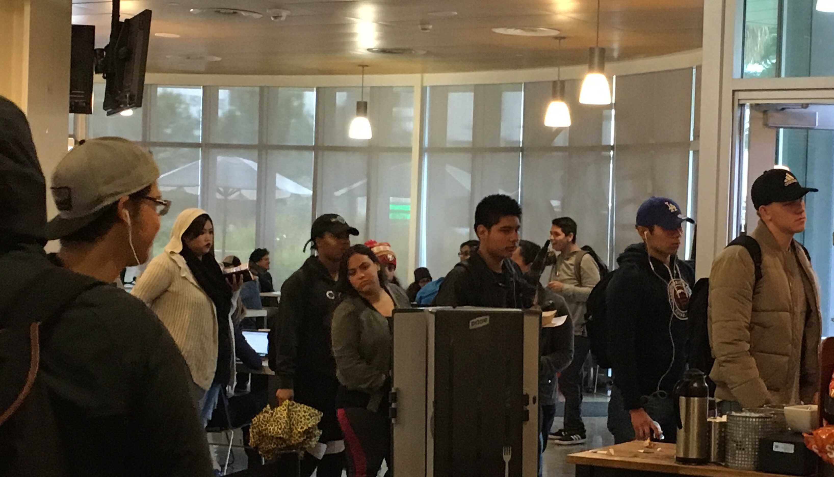 Frustrated students experience long waits at Rio Cafe. Some risk showing up late for class as a result.