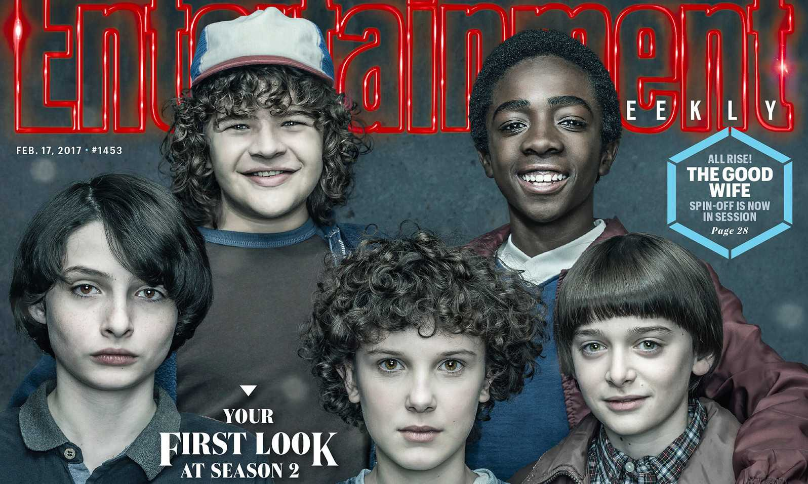 'Stranger Things' fan-favorites Eleven, Mike, Dustin, Lucas, and Will grace the cover of Entertainment Weekly's February magazine issue.