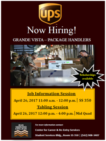 UPS is Hiring and on Campus April 26