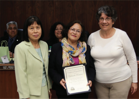 Yolanda Ramirez Dedicates Award to All Classified Staff