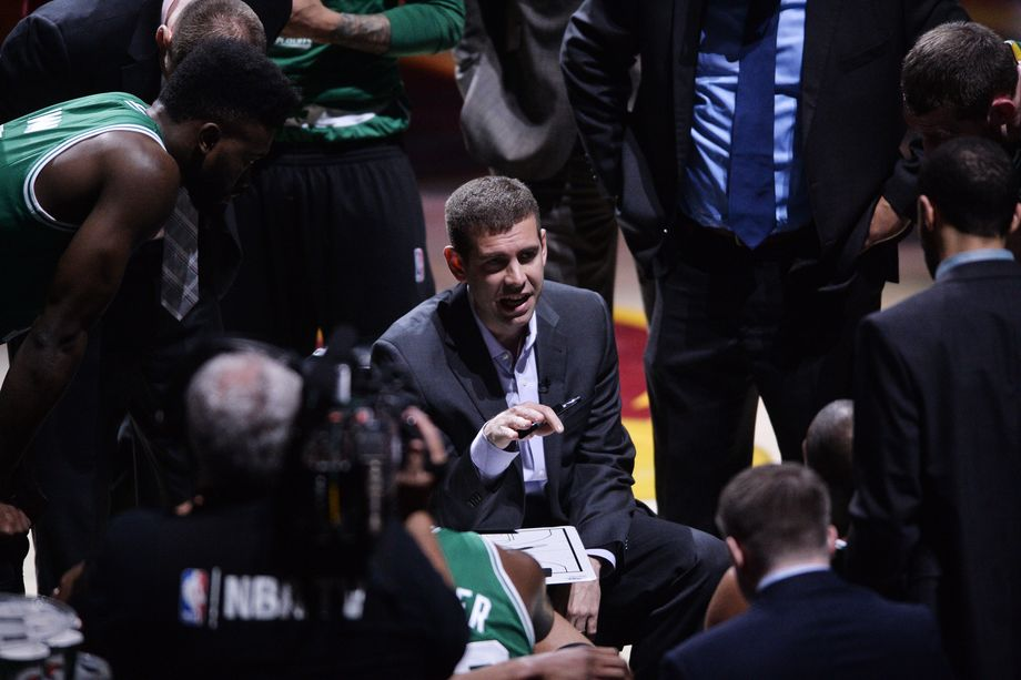 Coach+Brad+Stevens+of+the+Boston+Celtics+had+his+team+playing+with+passion+and+heart+despite+trailing+the+series+2-0.