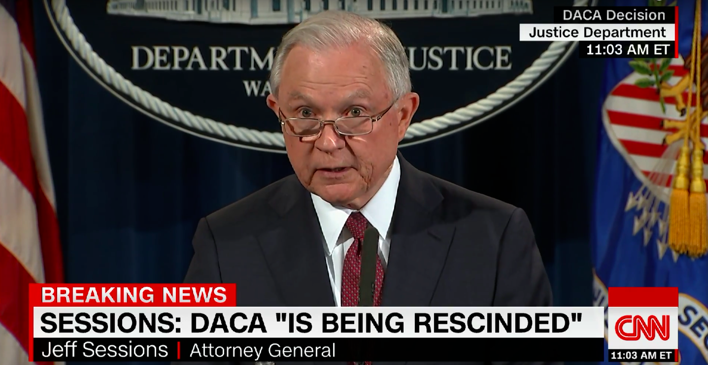 Attorney+General+Jeff+Sessions+announced+the+extermination+of+the+DACA+program+early+Tuesday+morning.