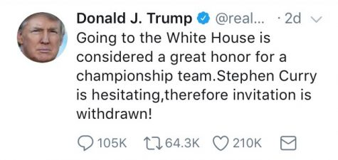 President Trump has withdrawn his invitation to Stephen Curry