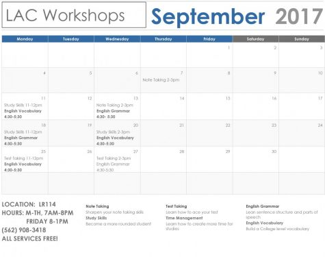LAC Workshops September Calendar