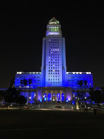 City Hall Tribute to Dodgers
