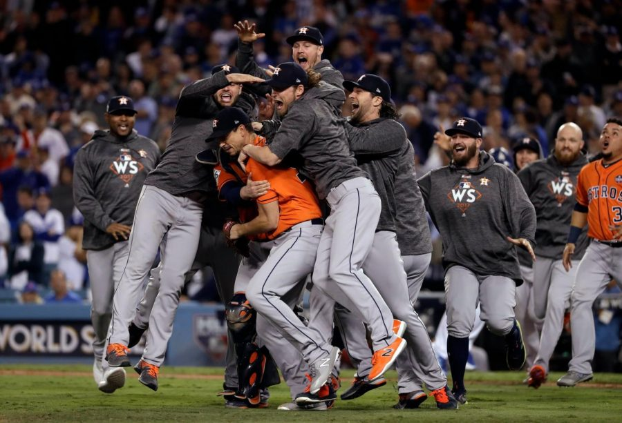 The Houston Astros scored all of their five runs in the first two innings of game seven.  The victory earned Houston their first ever World Series title.