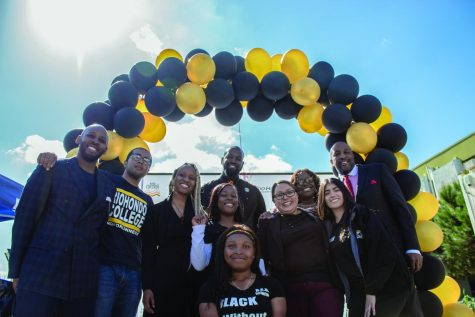 Members of the Rio Hondo staff, Black Student Union members and guest speakers pose after the Black Excellence event speeches.
