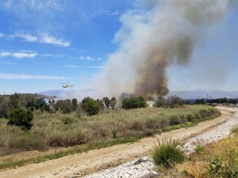 Wildfire Breaks Out at Whittier Narrows Reservoir