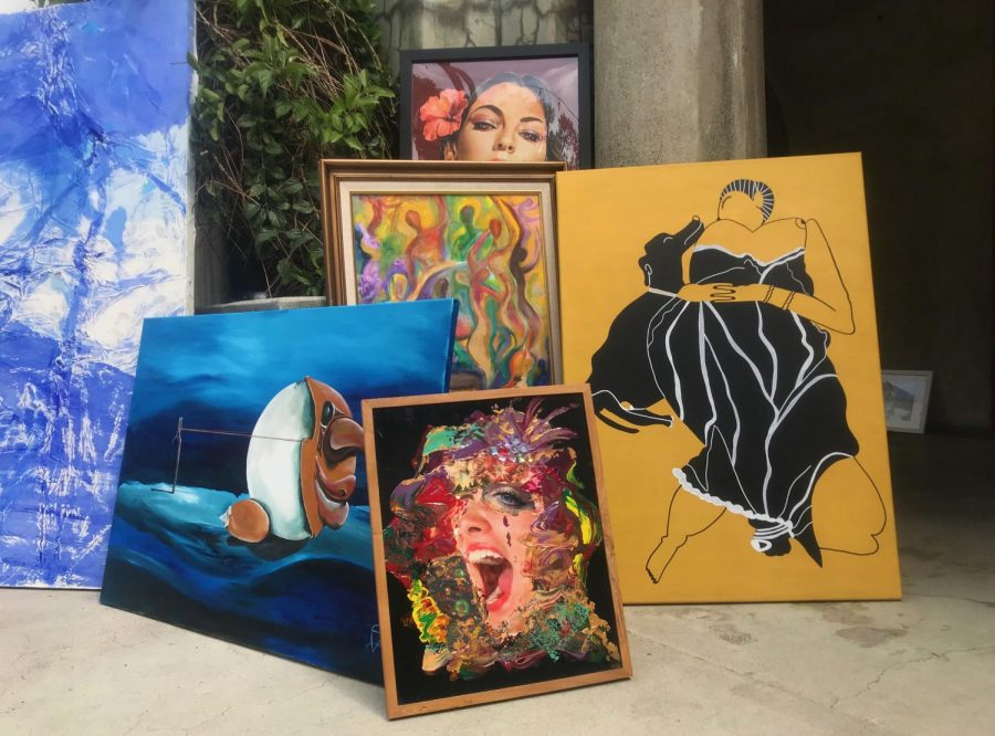 Local artists began dropping off their pieces this weekend, prior to set up.