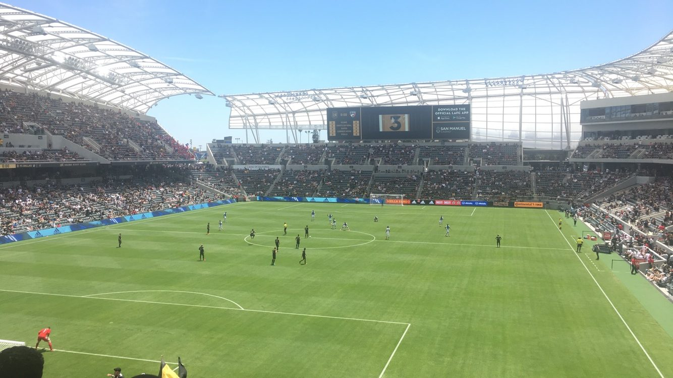 In the second home match for Los Angeles Football Club, the Black and Gold were the better team but were held to a draw. Photo cred: Ignacio Cervantes.