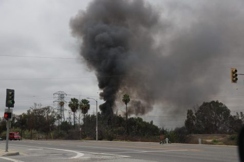 Fire at Bosque Del Rio Hondo in S. El Monte