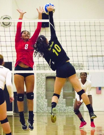 Lady Roadrunners Spike Chaffey College in Breast Cancer Awareness Game