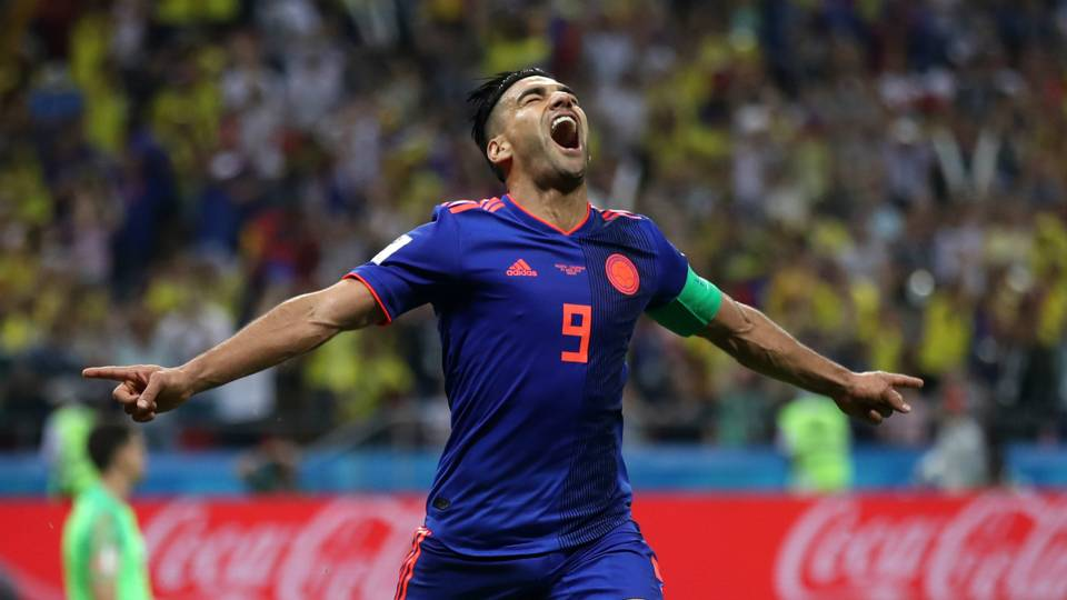 Radamel Falcao's opening goal for Colombia put Los Cafeteros in pole position against Poland Sunday. Photo credit: sportingnews.com
