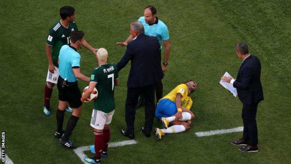 Neymar Jr. dazzled on the pitch but annoyed many during his sideline antics of exaggeration. Photo credit: Getty Images.