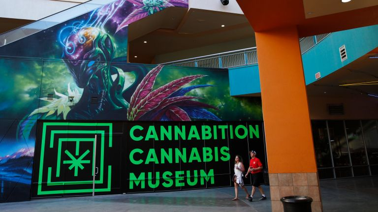 A mural right outside of Cannabition.