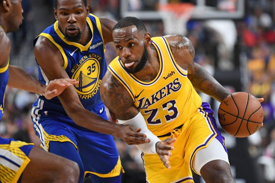 LeBron+James+made+a+move+this+offseason+to+become+the+Los+Angeles+Lakers+latest+superstar+after+leaving+the+Cleveland+Cavaliers.+The+three-time+NBA+champion%27s+move+to+the+Western+Conference+has+now+surfaced+the+Lakers+as+possible+contenders.+Photo+credit%3A+Stephen+R.+Sylvanie-USA+TODAY+Sports.