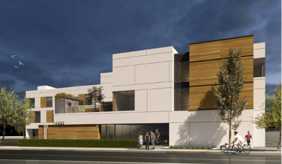 3D render of the proposed apartment complex. Provided by Los Angeles County.