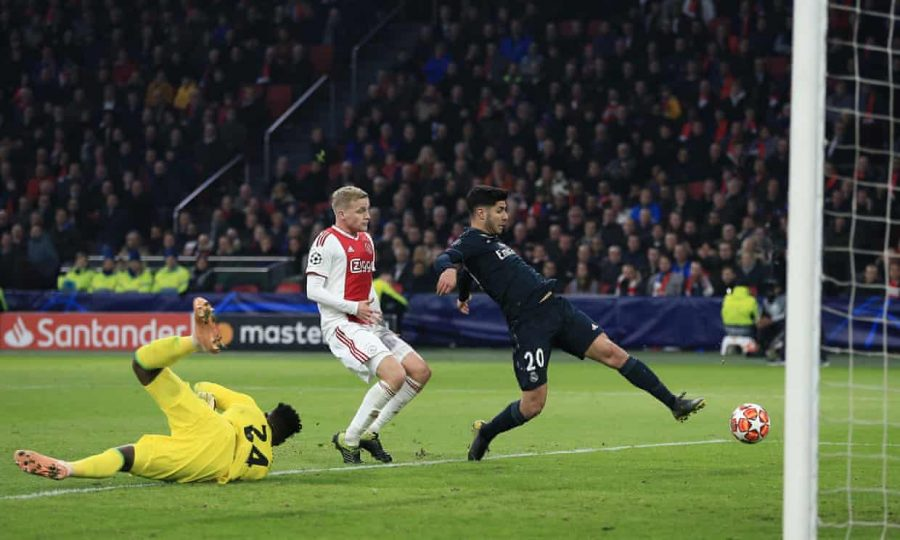 Marco+Asencio+delivers+after+coming+into+the+game+against+Ajax+Amsterdam+to+seal+a+2-1+for+Spain%27s+Real+Madrid+in+the+Netherlands.+Photo+credit%3A+Michael+Zemanek%2FBPI