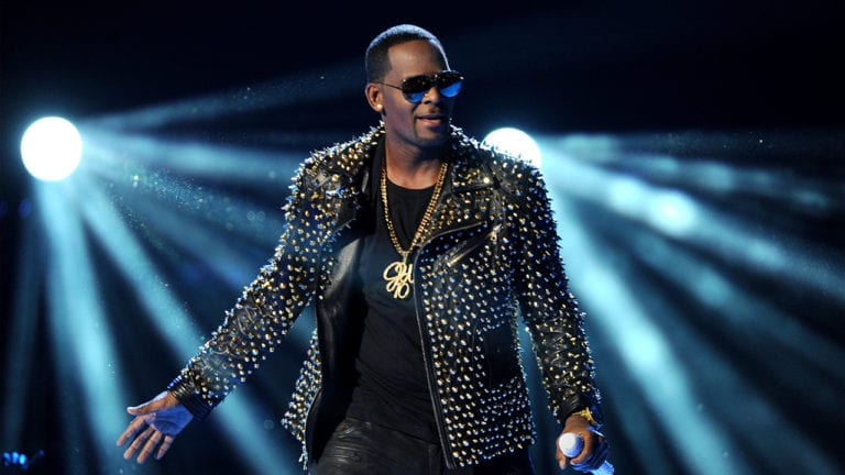 R. Kelly performs at the 2013 BET Awards in Los Angeles.