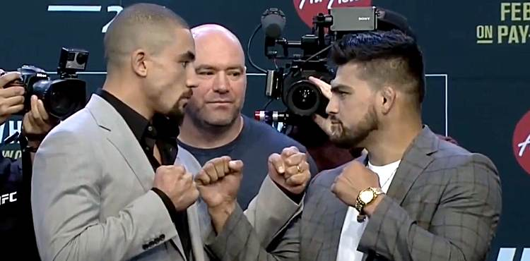 UFC+234+sees+Robert+Whittaker+take+on+Kelvin+Gastelum+for+the+middleweight+championship+in+Melbourne%2C+Australia%27s+Rod+Laver+Arena.+Current+champion%2C+Whittaker%2C+came+into+the+weigh+in+at+185+pounds+while+Gastelum+notched+in+one+pound+lighter.+Image+courtesy+of+UFC